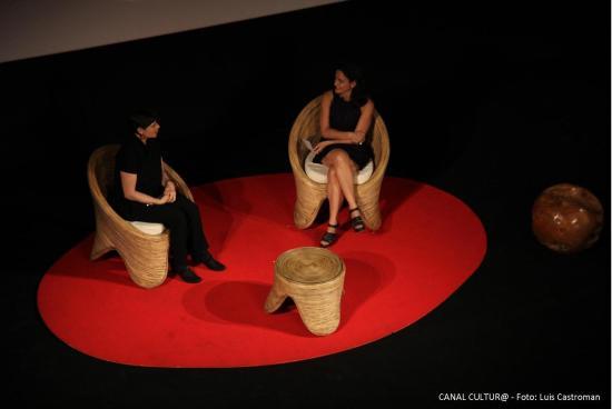 Isabella Rosellini en CANAL CULTUR@  Foto Luis Castroman 2