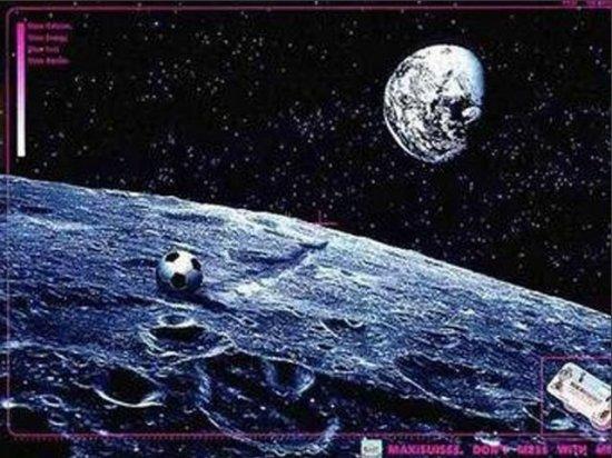 balon en la luna