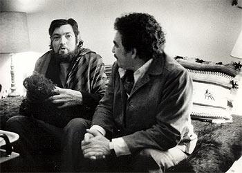 Julio Cortázar y Gabriel García Márquez