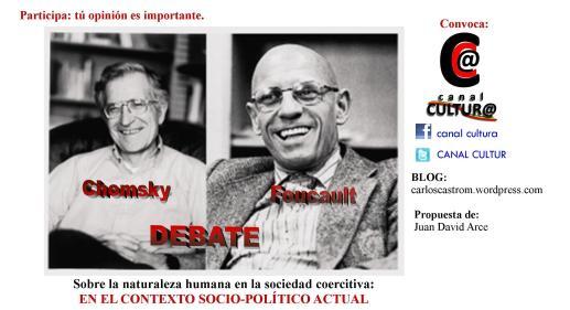 promo debate chomsky - foucault - copia