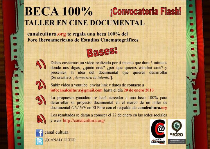 Bases Horizontal BECA cine documental - canal cultura - Foro