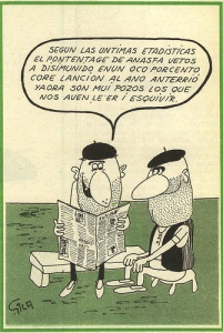 analfabetas gila caricatura