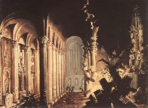 Explosión en una catedral, de Monsú Desiderio 1630