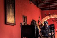 Karla Aguilar entrevista a Liniers. Foto: Rafael Bossio | Canal Cultura ©